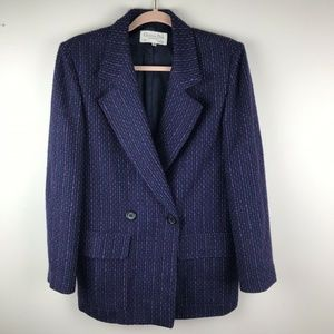 Christian Dior Vtg Double Breasted Wool Blazer 10